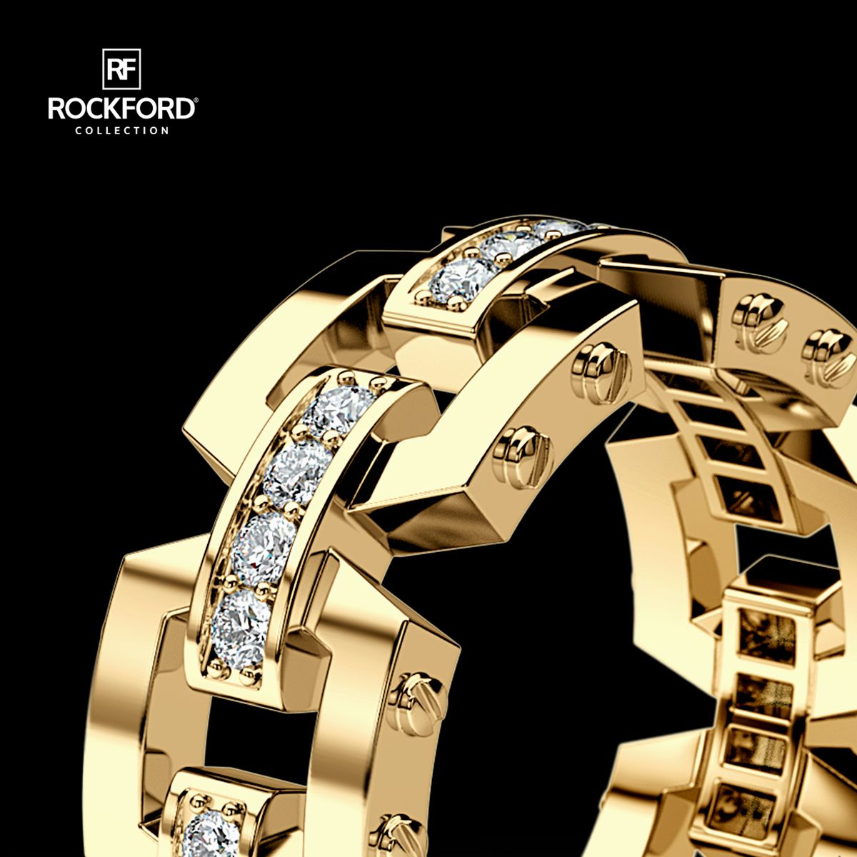 NORTHSTAR Mens Gold Wedding Band with Diamonds in 2020