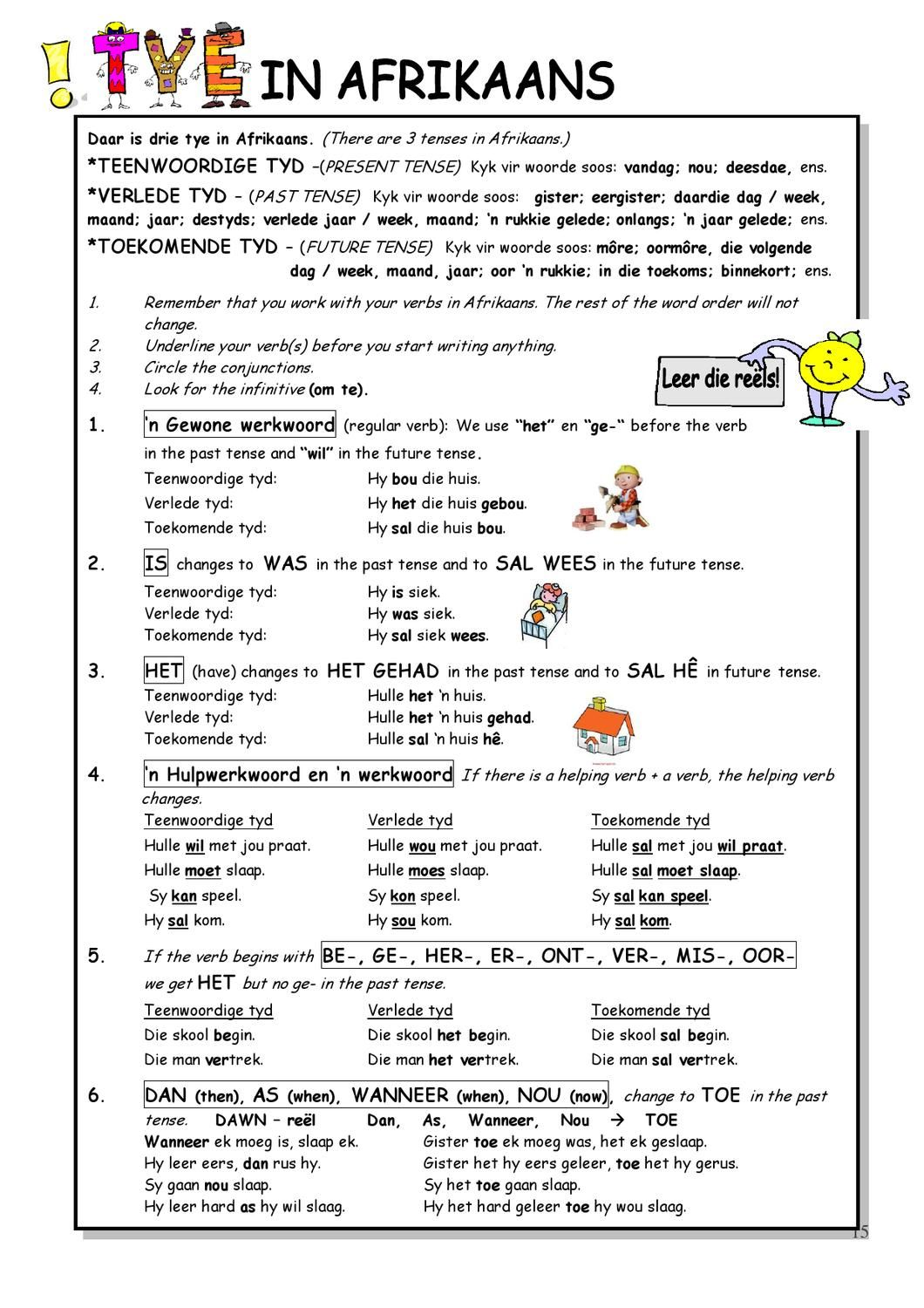 Afrikaans Language Worksheets   Printable Worksheets and Activities for  Teachers [ 1500 x 1060 Pixel ]