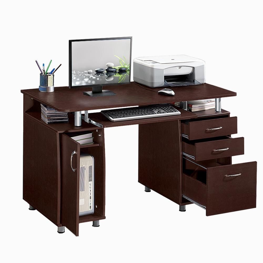 Techni Mobili Chocolate Brown Complete Workstation
