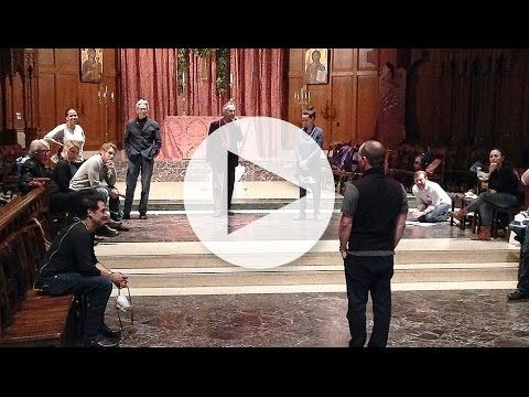 The cast of 'Anne Boleyn' rehearses at Grace Cathedral