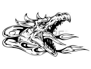 Dragon Tattoo With Yin Yang Sign Eps Vector Illustration Ejderhalar Boyama Sayfalari Illustration