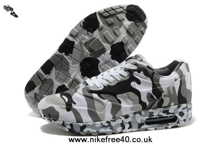 Cheap Camo Grey New Releases Air Max 1 87 Mens Shoes Pixel 2013 Free Shoes