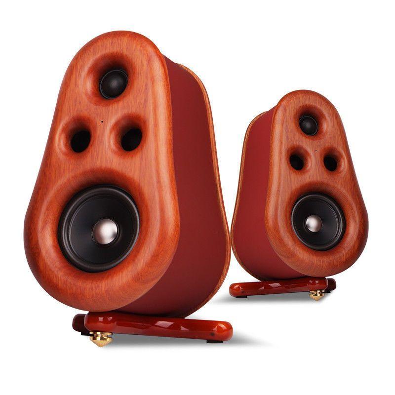 Mini Desktop Passive Speakers Bookshelf Hifi Stereo Home Audio Soundbox Passive Speaker Hifi Hifi Stereo
