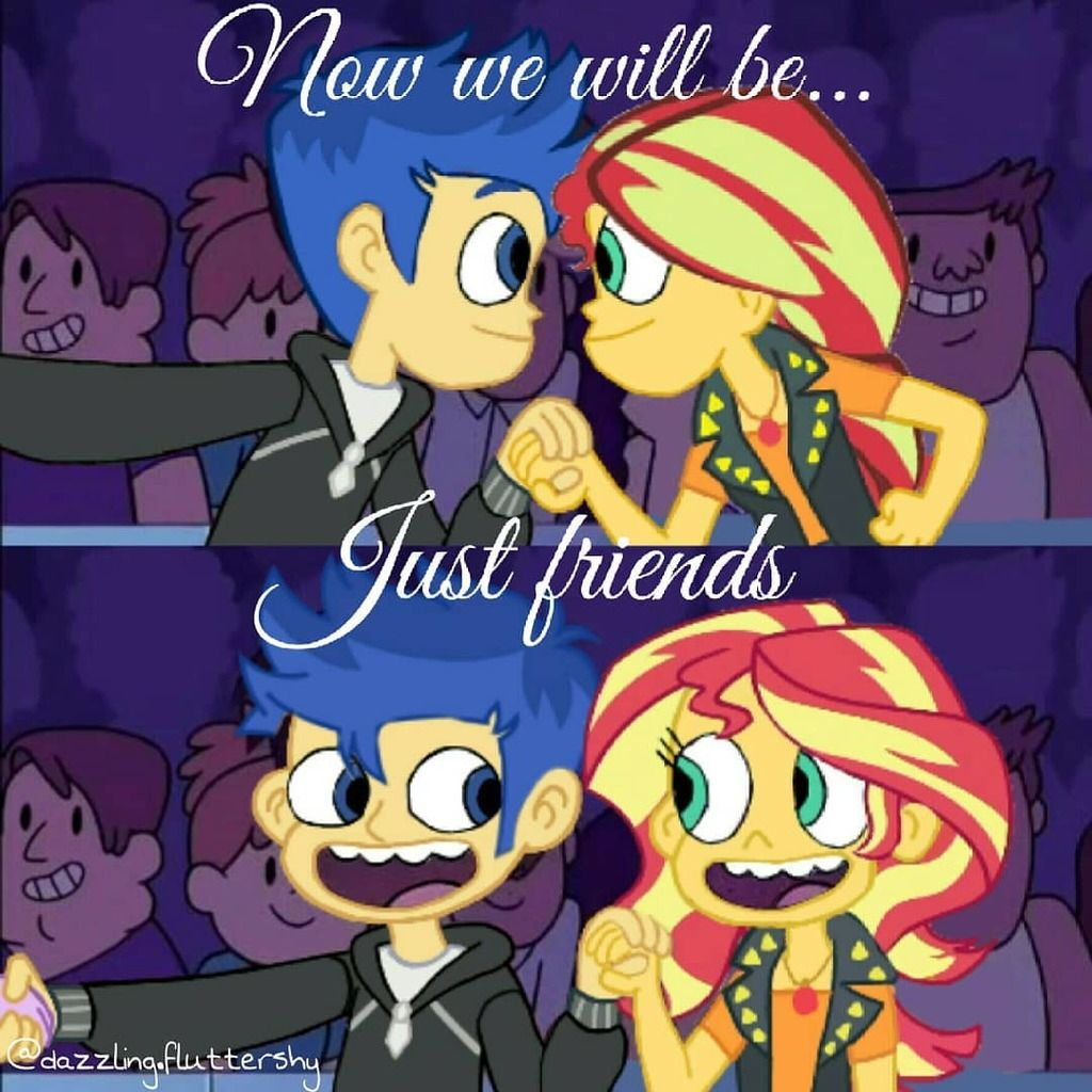 1811168 Crossover Edit Equestria Girls Female Flash Sentry Geode Of Empathy Implied Sunset Shimmer Star Vs The Forces Of Evil My Little Pony Wallpaper
