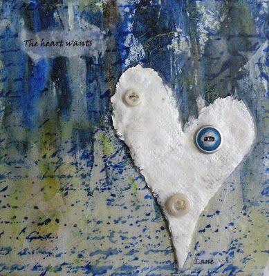encaustic heart
