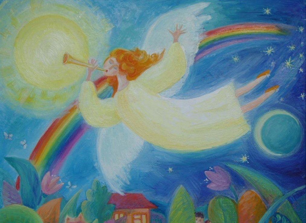 Рисунок ангелы мира, днем рождения дочери