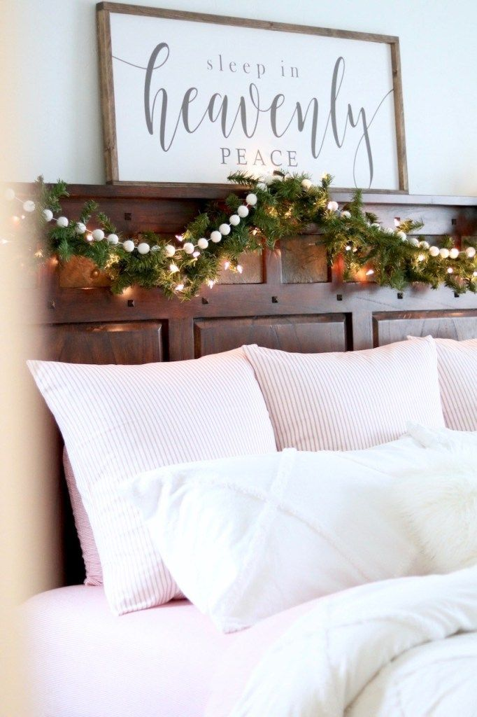 Cozy Farmhouse Christmas Bedroom Look Here Jane Pillow