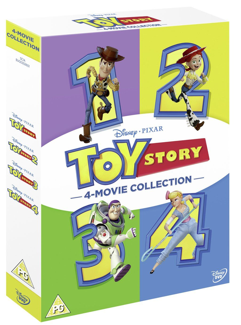 Toy Story 1 4 Complete Dvd Box Set In 2020 Toy Story Toy Story 3 Disney Pixar