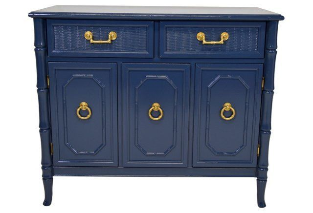 Broyhill  Faux-Bamboo  Server