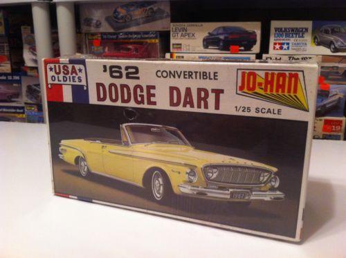Johan C-4862 1/25 Scale 1962 DODGE DART CONVERTIBLE Model Car Kit Sealed https://t.co/FapLS9jc8G https://t.co/ng0l7ipVyS