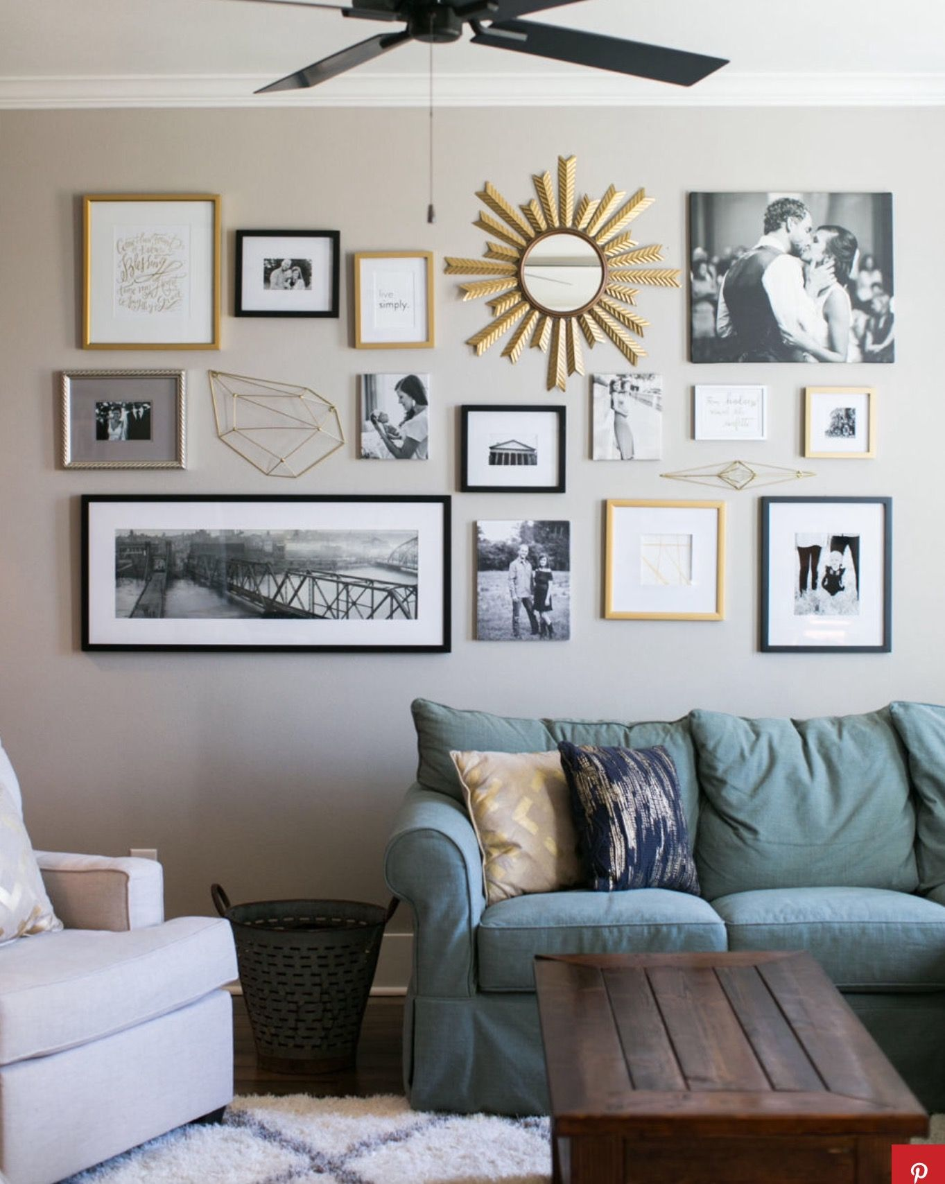 Gallery Wall Behind Couch Home Decor Misc Wall
