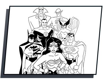 Justice League Heroes Coloring Page Coloring Pages Justice League Hero