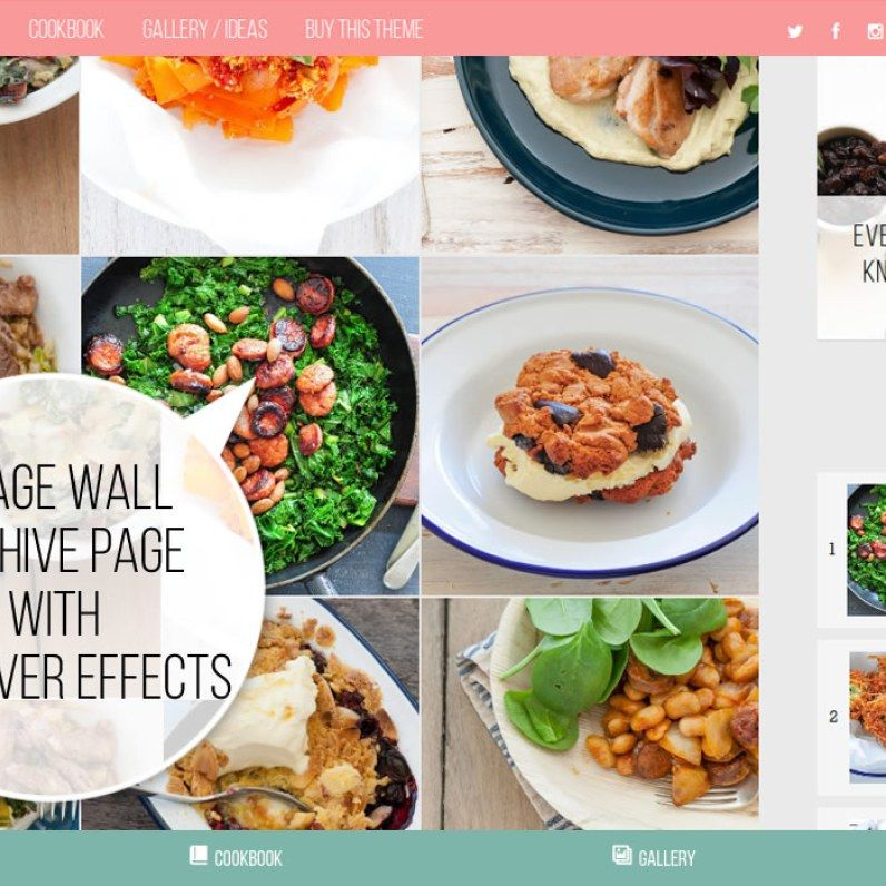 Food factory cookbook food recipes wordpress theme wordpress food blog food recipes website template for wordpress blog forumfinder Image collections