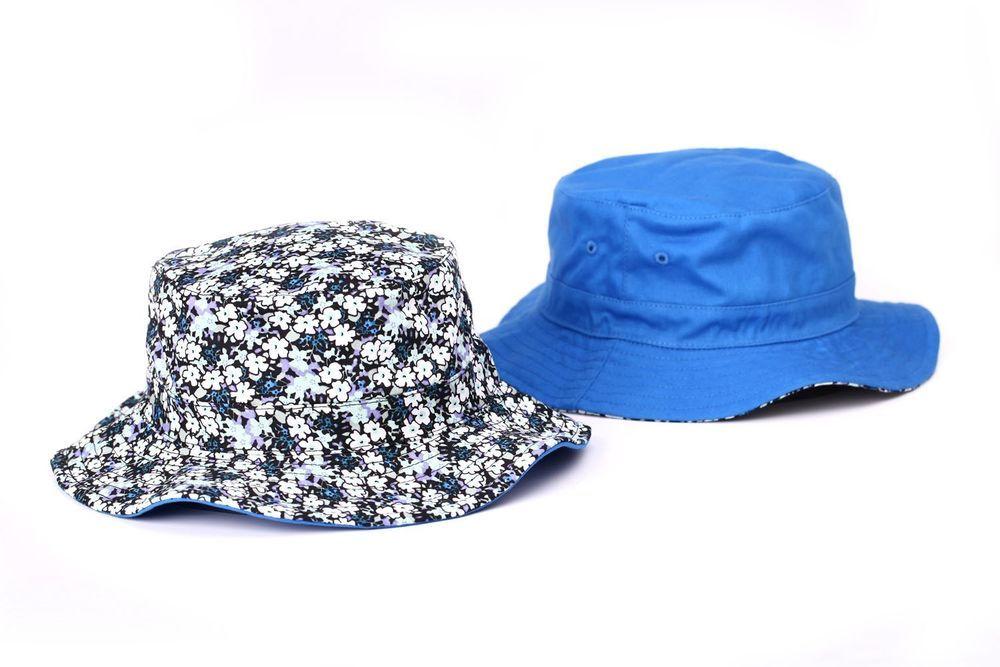 8c536c8971db28 Bucket Hat Floral Hawaii Blue Reversible Hunting Fishing Outdoor Sun Cap  Goldtop #Goldtop #Bucket