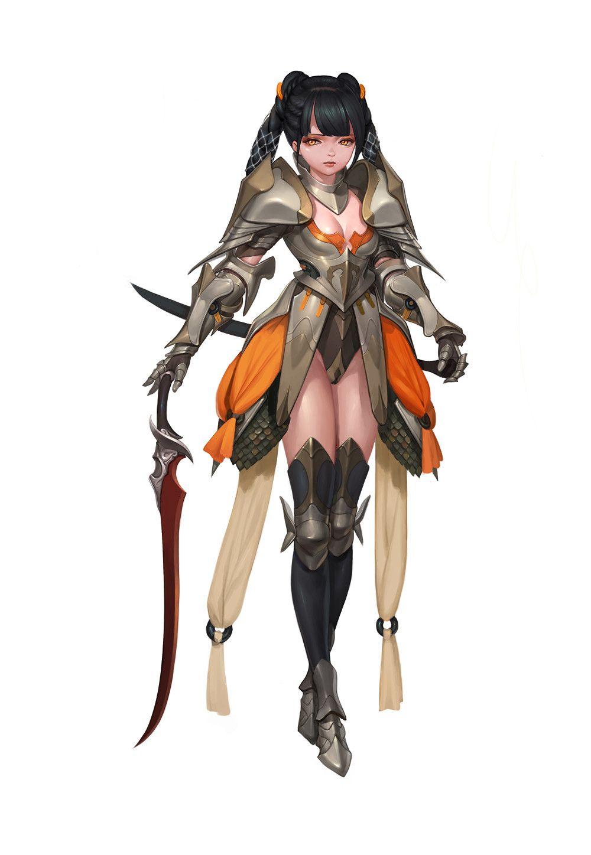 swordgirl, 현구 이 on ArtStation at https://www.artstation.com/artwork/YgLQd
