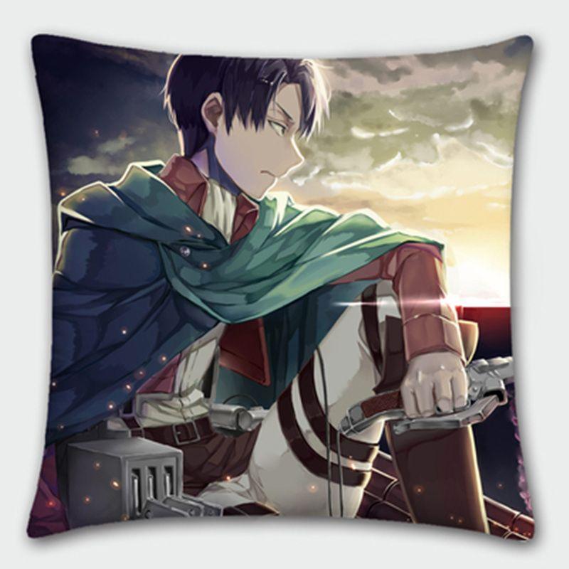 7.0US $ |Japanese Anime Pillowcase Attack on Titan Eren Mikasa Ackerman Levi  Pillow cover Pillow case free shipping|anime pillowcase|cover pillow casepillow case - AliExpress