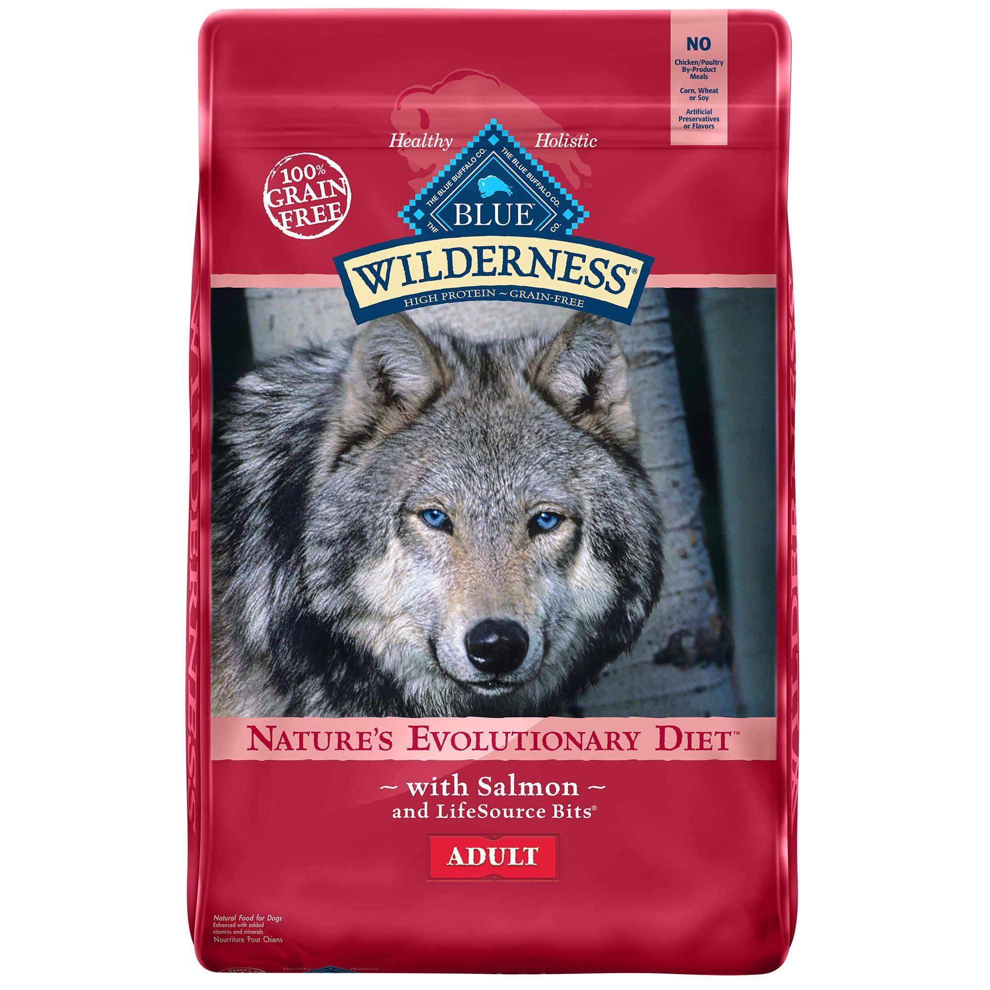 Blue Buffalo Blue Wilderness Adult Salmon Recipe Dry Dog Food 24