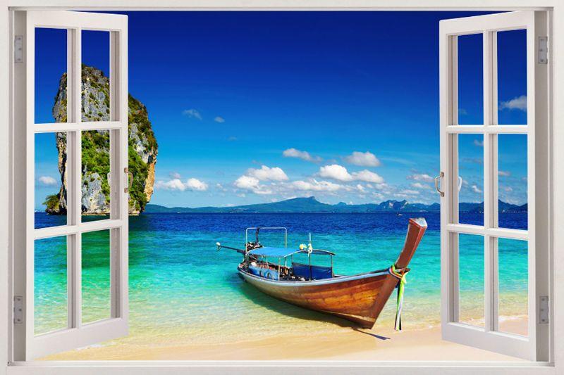 Details About Mediterranean Scene Window Home Decor Decals Art