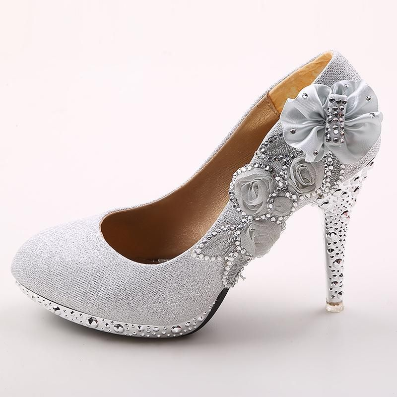A Pair Of Wedding Shoes On P Toe Or Size