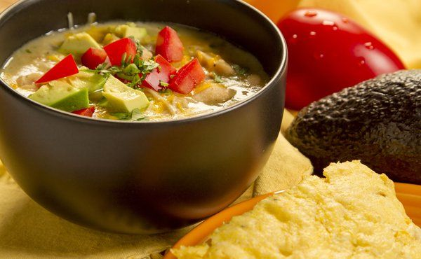 """White Chicken Chili - Watch as Cari with The Food Channel enjoys football season with this great recipe for chili with a twist! She says, """"I know it's always fun to turn things a little bit sideways, so I have a new chili recipe for you. Come on!"""""""