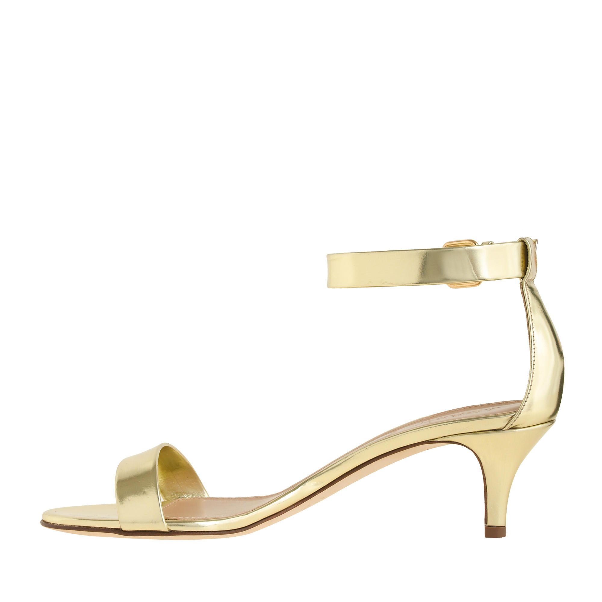 Fashion trend of Gold Kitten Heel Sandals - Is Heel | fashion ...