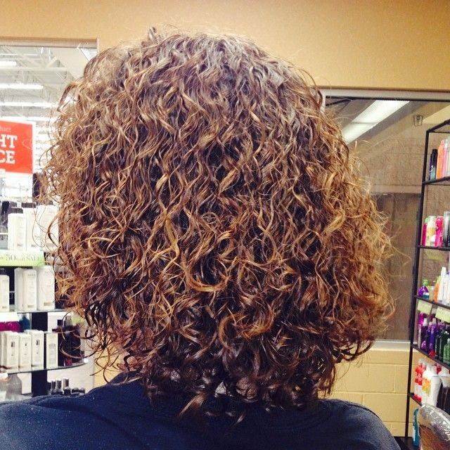 very nice spiral perm texture