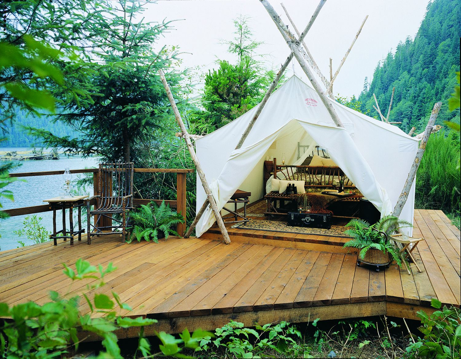 One of the original Outpost Deluxe tents Circa Clayoquot