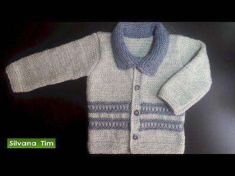 Sueter o batita para bebes bebas para principiantes tejido con dos agujas 455 youtube - Tejer chaqueta bebe 6 meses ...
