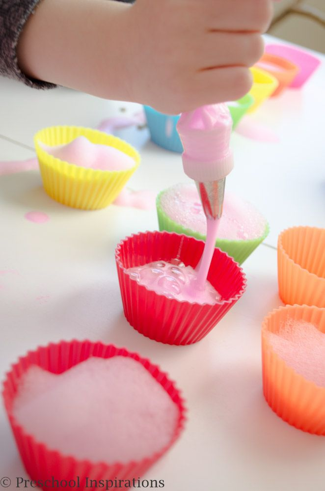 Soap Foam Cupcake Station With Images Sensory Activities