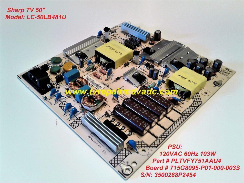 PLTVFY751AAU4  POWER SUPPLY  SHARP LC-50LB481U