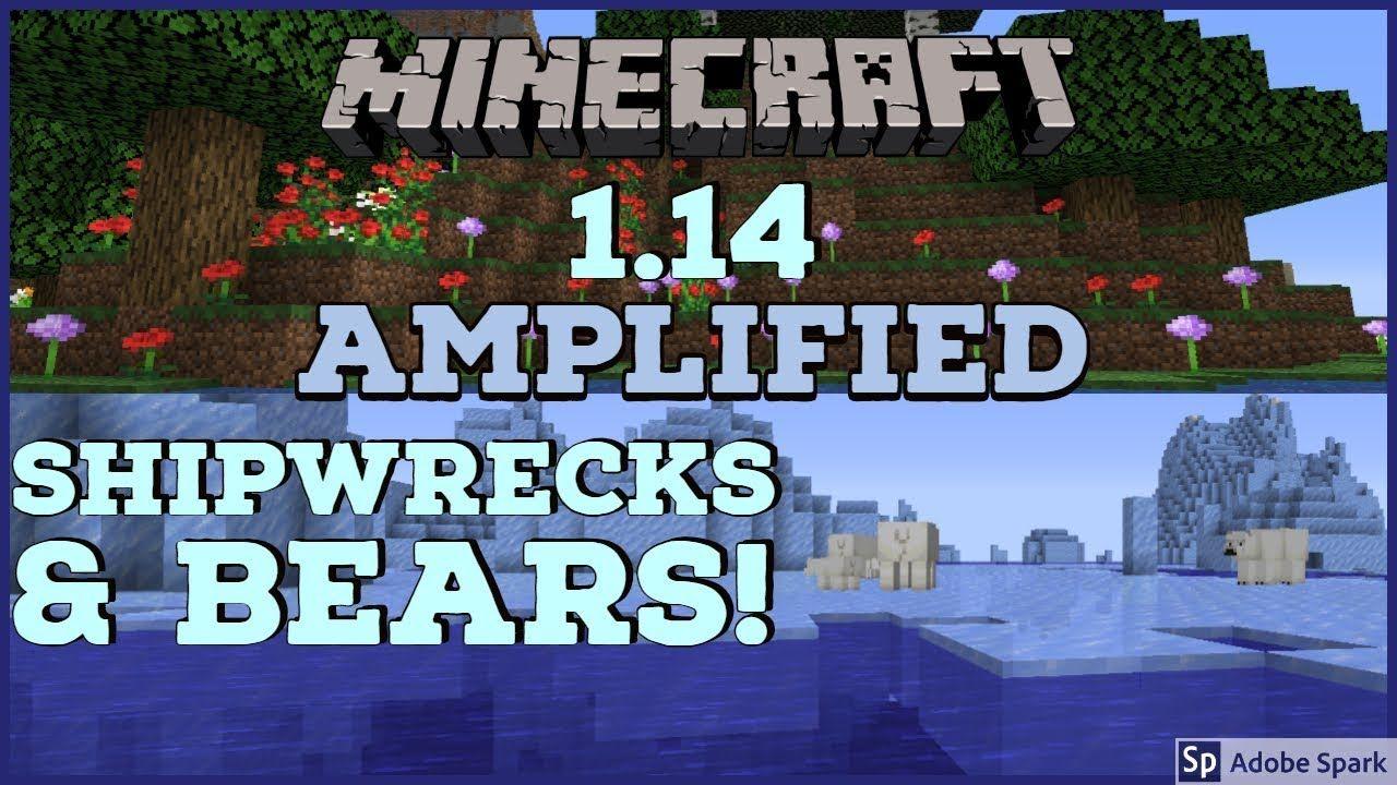 Minecraft 1 14 Amplified Episode 2 Shipwrecks & Polar Bears