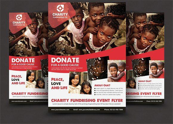 charity donation flyer by afzaalgraphics on graphicsauthor