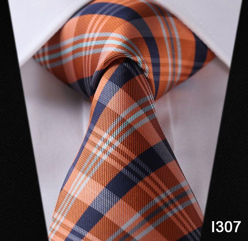 "Dot Check Striped Check New 3.4"" 100% Silk Jacquard Woven Classic Man's Tie Necktie#I3"