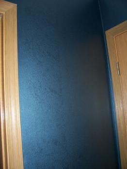 Ralph lauren metallic blue perfect accent wall color to - Metallic blue interior wall paint ...
