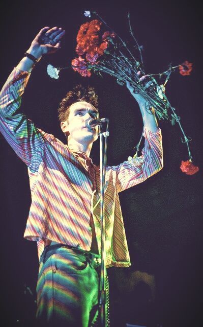 Morrissey from The Smiths, live