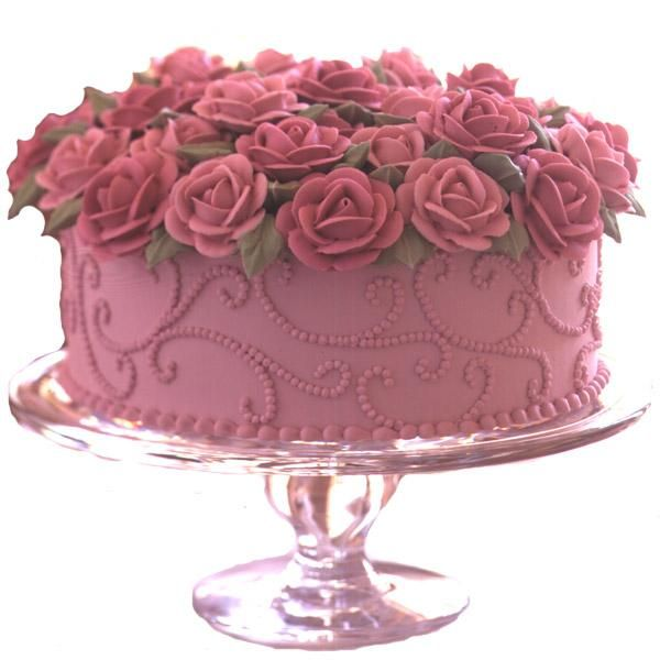 Brimming With Roses Cake Recipe Cake, Pink rose cake and Cake - k amp uuml che aus paletten