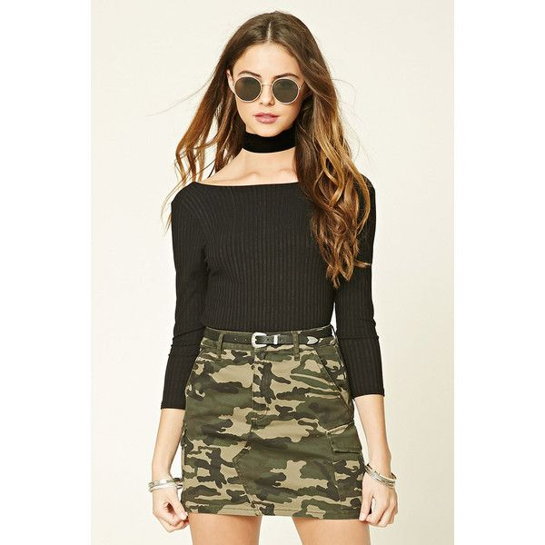 f14bd27bef6286 Forever21 Camo Print Mini Skirt ($18) ❤ liked on Polyvore featuring skirts,  mini skirts, cotton skirts, camo skirt, short skirts, forever 21 skirts and  ...