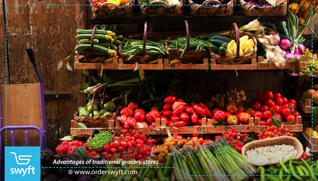 يتمتع العميل في متجر البقالة التقليدي بالاختيار الحر لمختلف أنواع