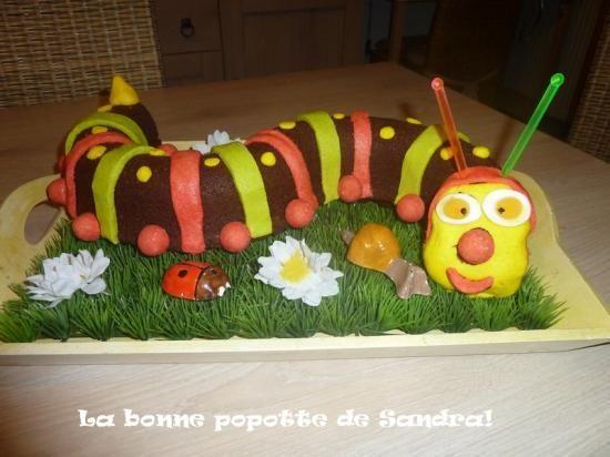 Bien connu Gâteau chenille | cuisine enfants | Pinterest | Chenille, Gâteau  DR84