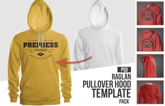 Mens Raglan Pullover Hoodie mockup template psd | Best Of Men's ...