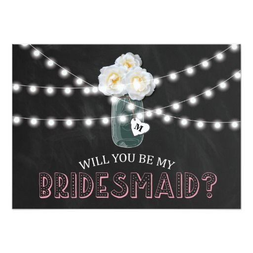 BE MY BRIDESMAID RUSTIC | BRIDESMAID CARD