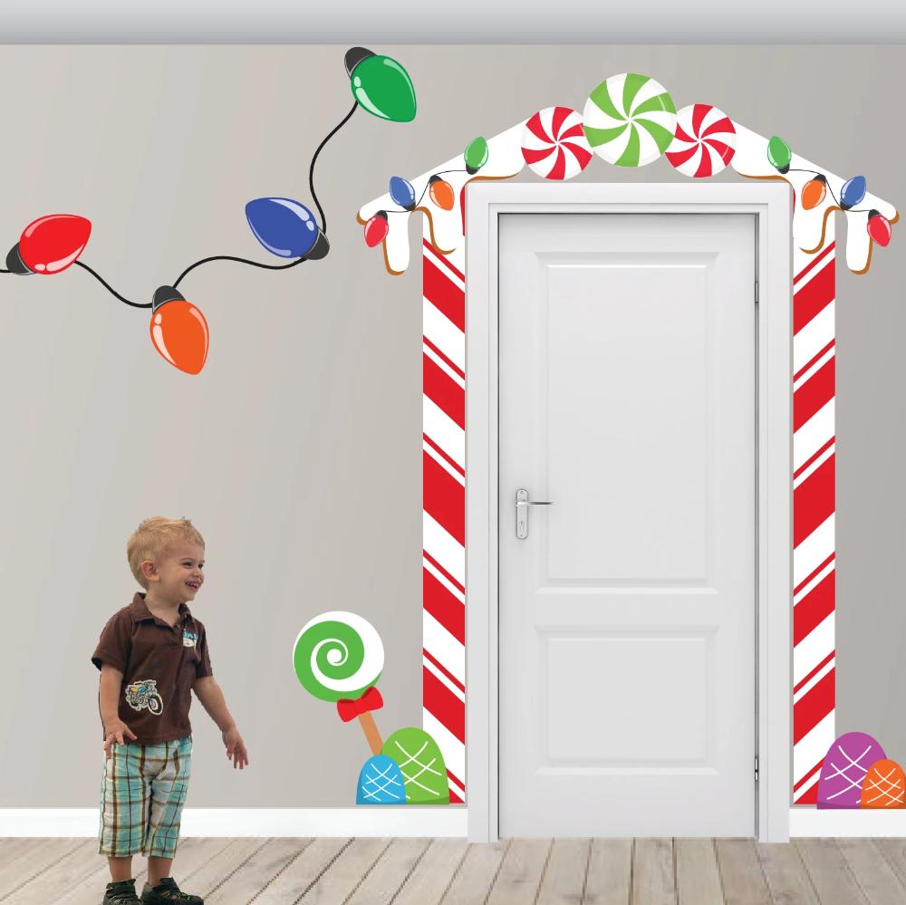Christmas Elf Gingerbread House Door Decoration Wall ...