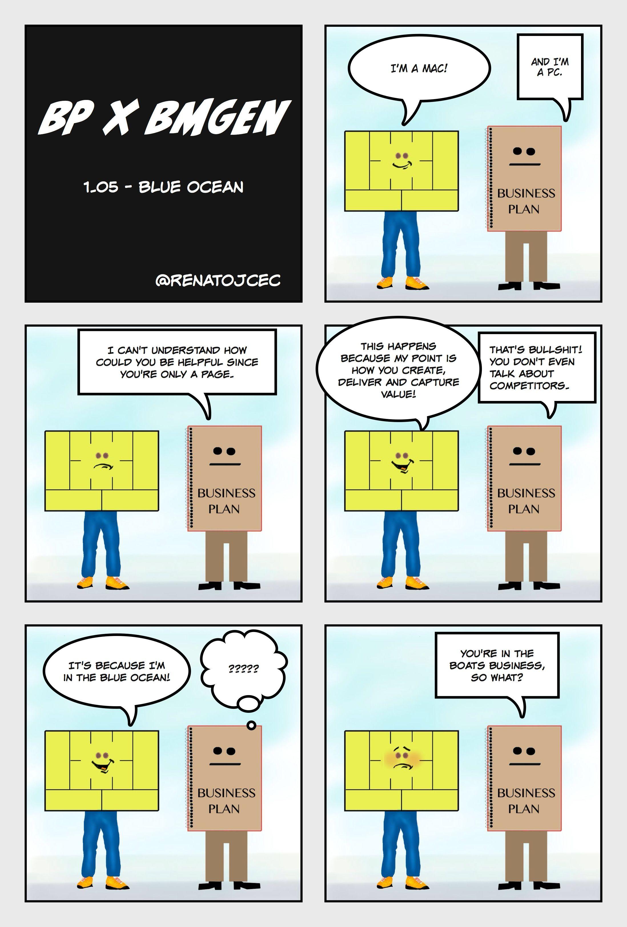 BP vs #bmgen 1.05 - Blue Ocean - now @ #BMGen Comicshttp://materiais.bmgenbrasil.com/bmgen-comics-en #custdev #leanstartup