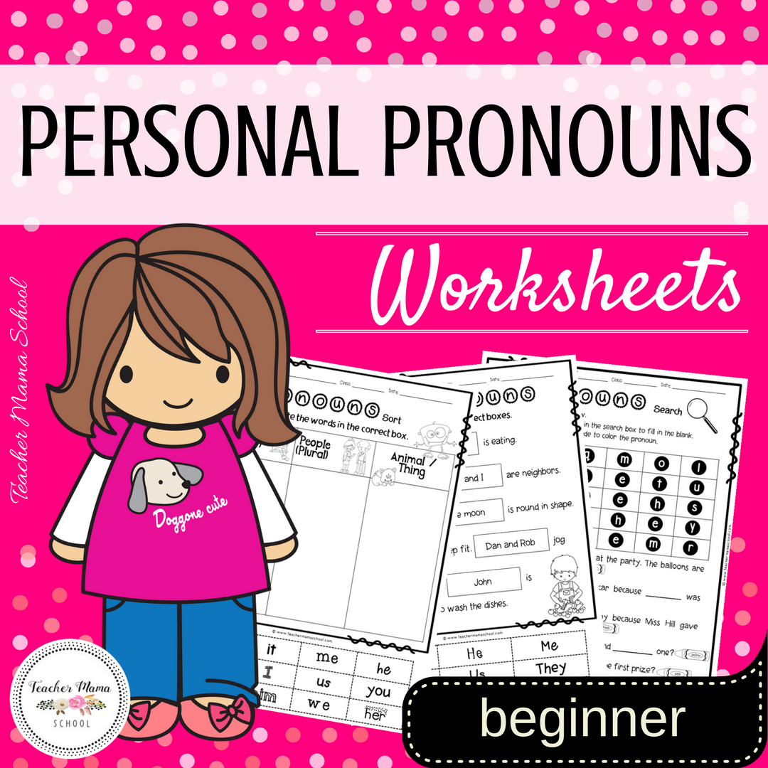 Personal Pronouns Worksheets For Beginners