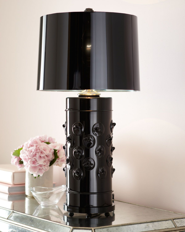 Florence black column lamp juliska prism love table lamps modern
