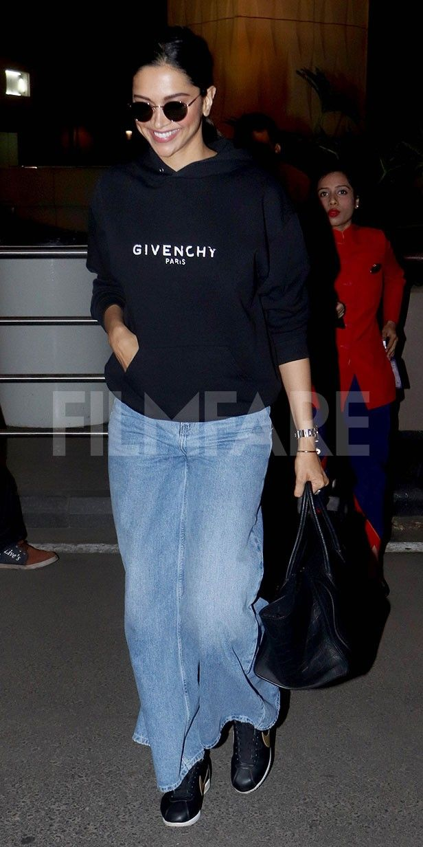 Deepika Padukone makes a stylish appearance at the Mumbai ...