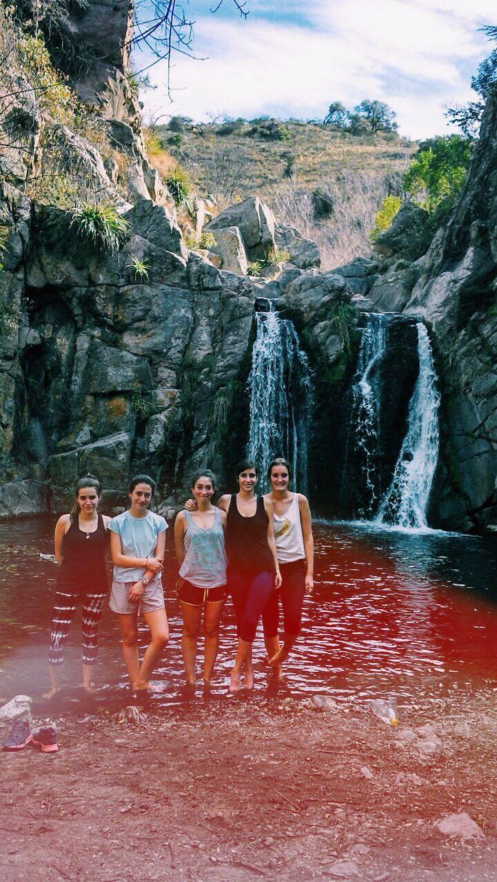 Cascada Los Cóndores; Río Ceballos, Córdoba, Argentina.
