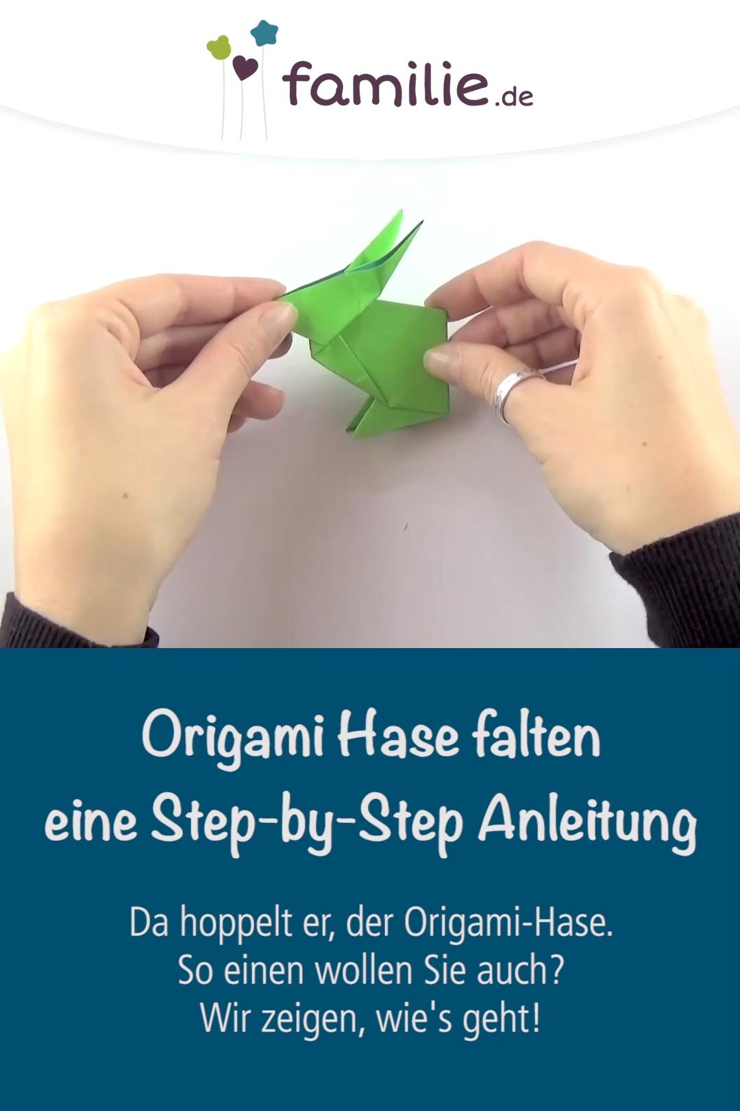 Origami Hase falten – eine Step-by-Step Anleitung