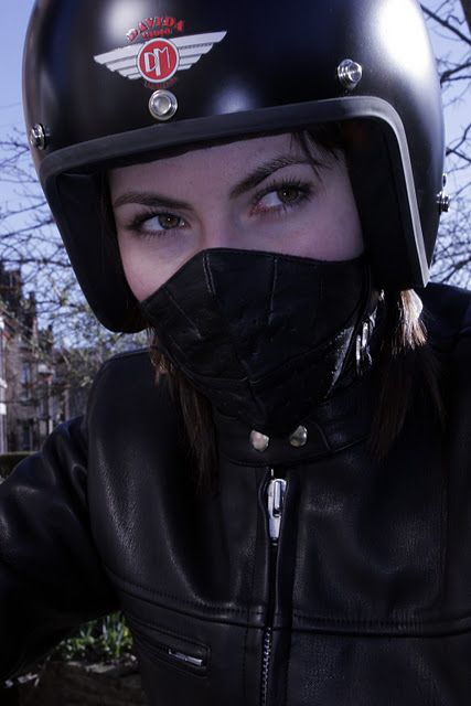 Cafe Racer Girls | Motorcycle Face Masks I could have used this back in the day!