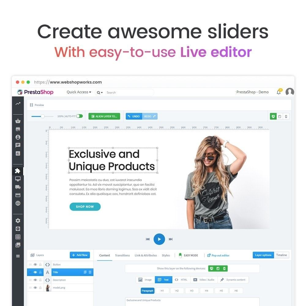 Pin By Buy Addons Com Official On Prestashop Responsive Slider